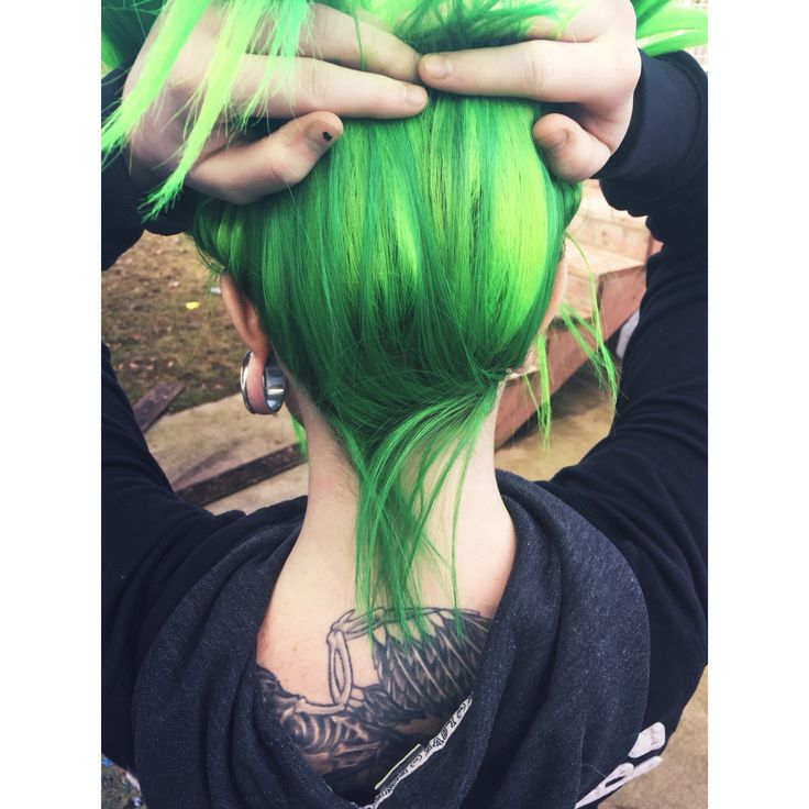 Manic Panic, Electric Lizard. Underneath is One N Only Argan Oil in the color…