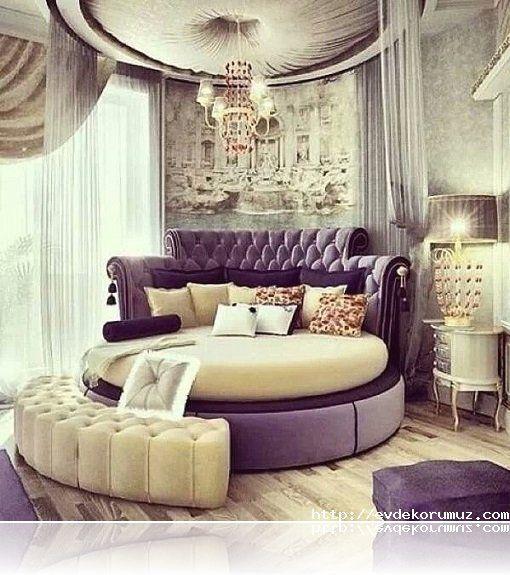 Cibinlikli Yuvarlak Süper Yataklar
