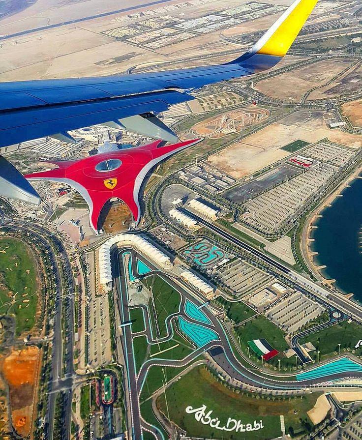 Abu Dhabi from the plane Ferrari World by the_travelling_gentlemen