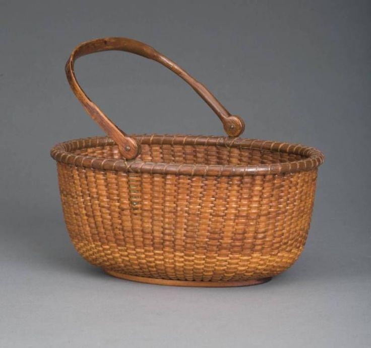 Rare 19th century American Nantucket Lightship Basket - Captain Andrew Sandsbury Antiques.com | Classifieds