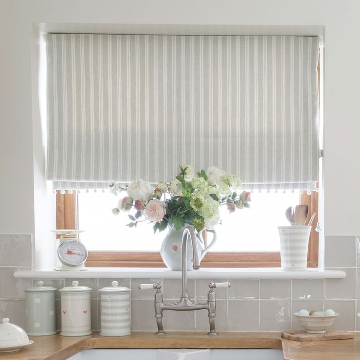 Sea/Ivory Cambridge Stripe | Susie Watson Designs