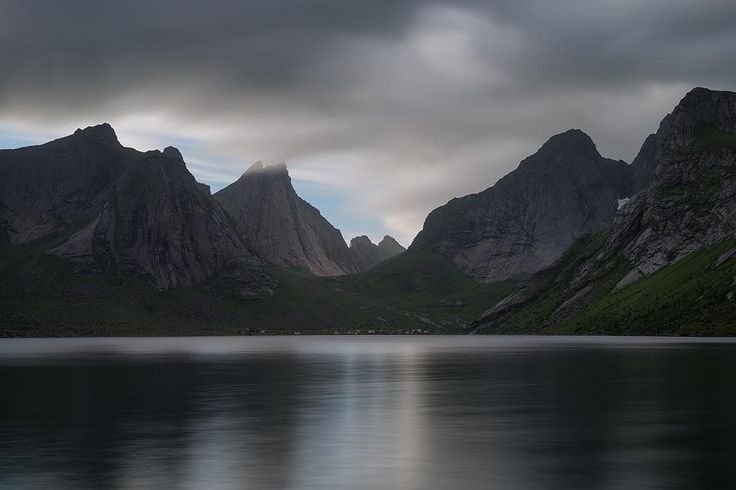 Clouds over Kirkefjord. #lofoten