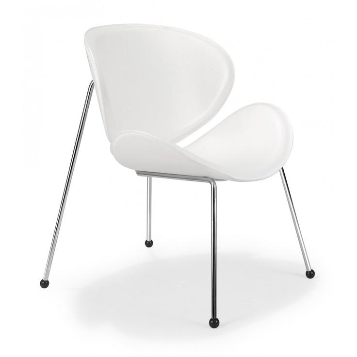 Zuo Modern, Match Lounge Chair, White