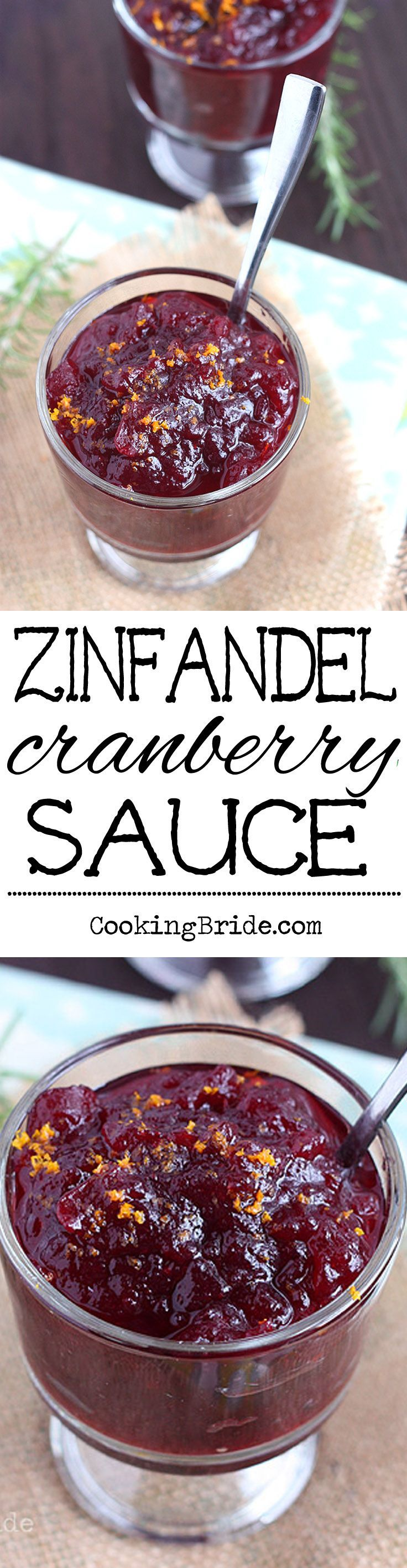 Homemade cranberry sauce is way better than canned. This recipe includes fruit juice, orange zest, and a splash of Zinfandel for added depth of flavor.