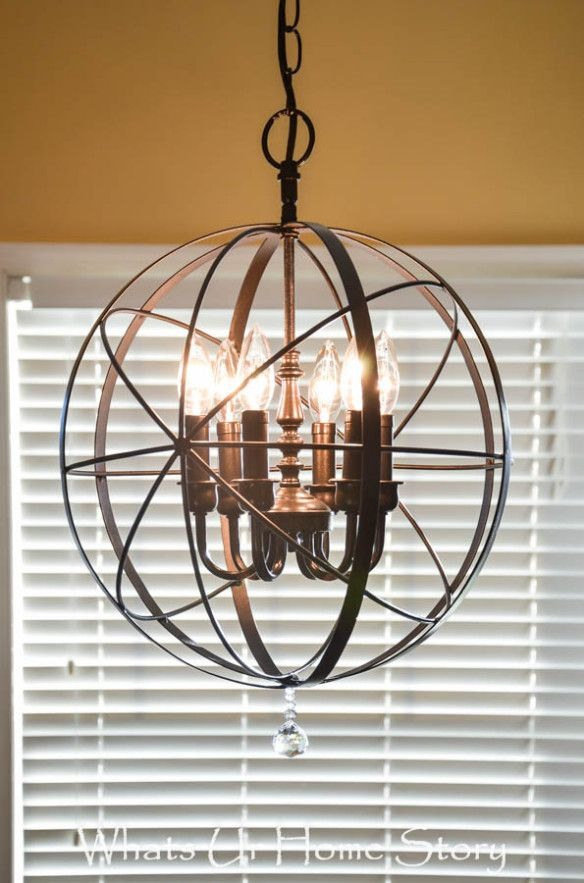 orb chandelier diy for $ 40.