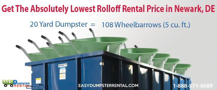 Newark, DE at EasyDumpsterRental Dumpster Rental in Newark, DE Get The Absolutely Lowest RolloffRental Price Click To Call 1-888-792-7833Click For Email Quote Why We Offer Incredible ContainerService In Newark: We work tirelessly to bring the best in customer service. Our sales team members are highly trained and are... https://easydumpsterrental.com/delaware/dumpster-rental-newark-de/