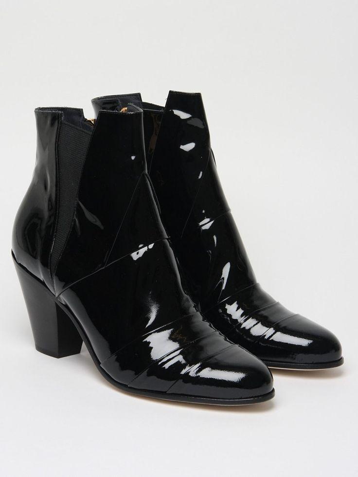 The Gareth Pugh Men's Patent Cuban Heel Boot for autumn/winter '11