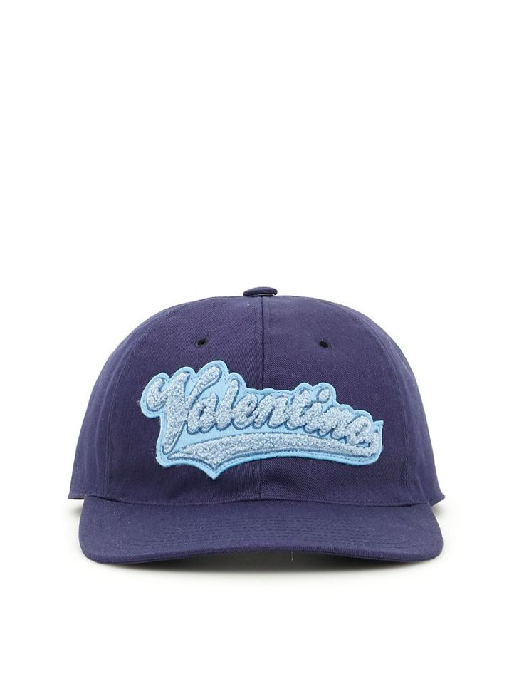 VALENTINO Logo Baseball Cap USD 259.80 USD 246.80   5% off S18 - S18  Description Valentino cotton fabric baseball cap with front contrast-embroidered logo patch. Ventilation eyelets, adjustable strap with metallic buckle on the back. Fully lined.