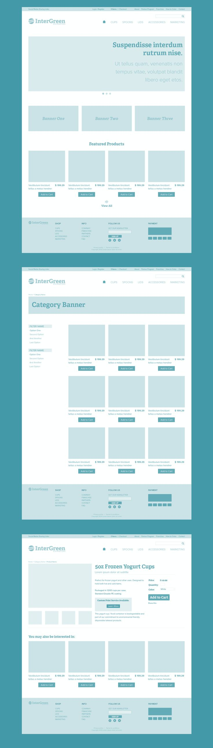 #ecommerce #Wireframes