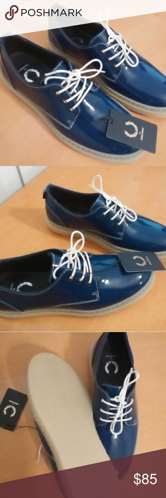 Fred Perry Women's Taylor Leather Lace Up Oxford New with tags Fred Perry leather Oxford lace up. Patent leather vintage sold out rare. Made in Portugal Fred Perry Shoes