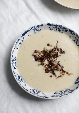 Crème de poireaux & de chou-fleur