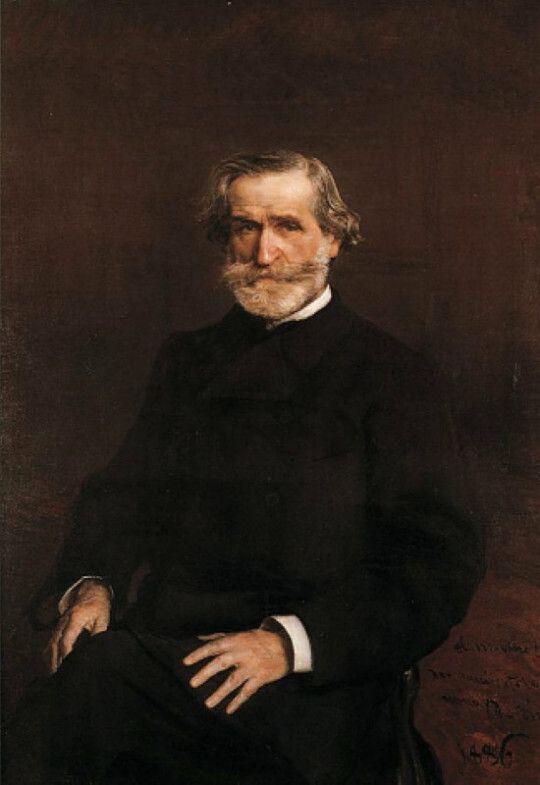 Portrait of Guiseppe Verdi (1813-1901) via Giovanni Boldini  Medium: oil, canvas