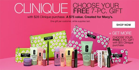 Free 7 Piece Clinique Gift With 28 Purchase At Macy 247moms