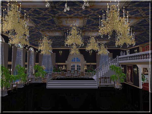 Large Chandelier | Sims 2 History: Rococo | Sims 2, Forest ...