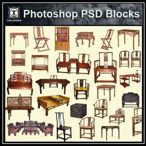 Photoshop furniture blocks a collection of home decor
