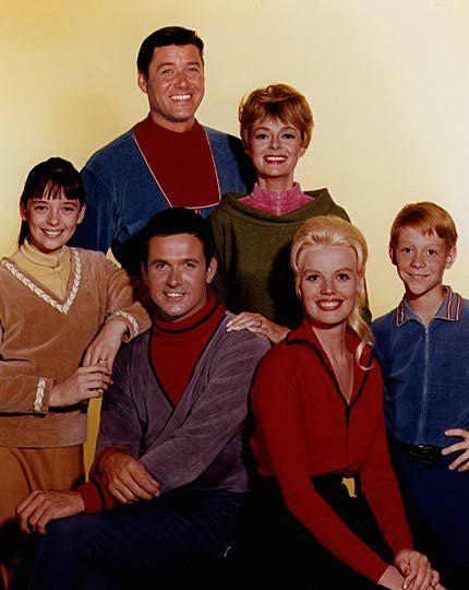 """Lost in Space"" (1965-68)  Angela Cartwright as Penny Robinson  Guy Williams as John Robinson  Mark Goddard as Don West  June Lockhart as Maureen Robinson  Marta Kristen as Judy Robinson  Billy Mumy as Will Robinson"