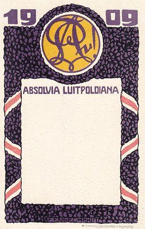 Absolvia Luitpoldiana (Luitpold-Gymnasium) München 1909
