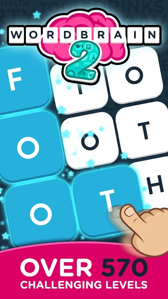 WordBrain 2 v1.6.7 (Mod Hints/Ad-Free)Requirements: Android 4.0.3+Overview: Find hidden words, swipe your finger over them, and see the puzzle collapse.     Complete the levels with themed puzzles and advance from being a simple Word Newbie to a Super Word Mastermind! The increasing level...