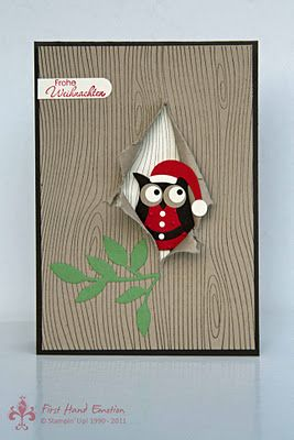 Stampin' UP! Christmas with IN{K}SPIRE_me Nikolauseule Woodgrain