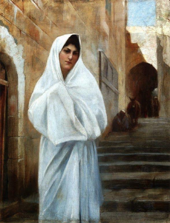 Νεαρή κοπέλα στην Ιερουσαλήμ