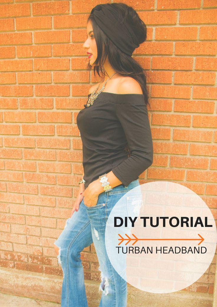 DIY Turban Headband Tutorial