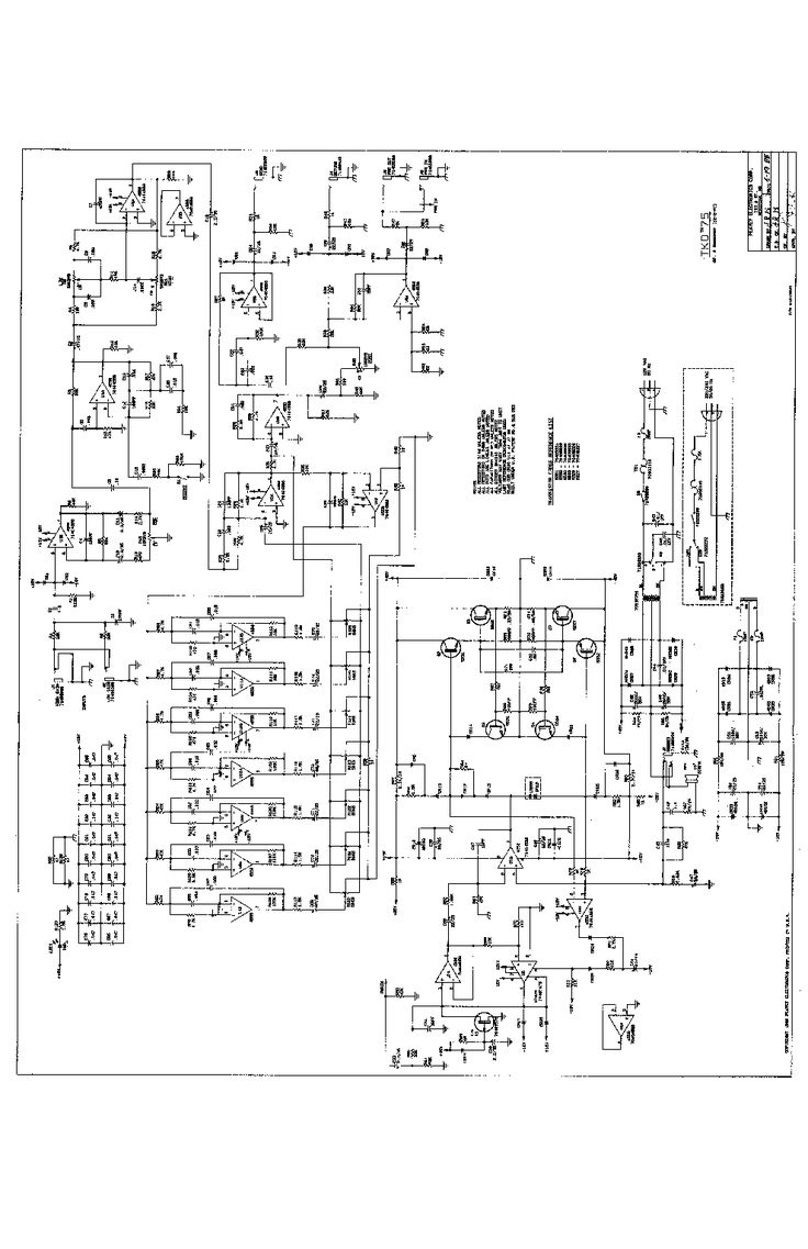 Peavey Pv1200 Sch Layout Service Manual Download  Schematics  Eeprom  Repair Info For