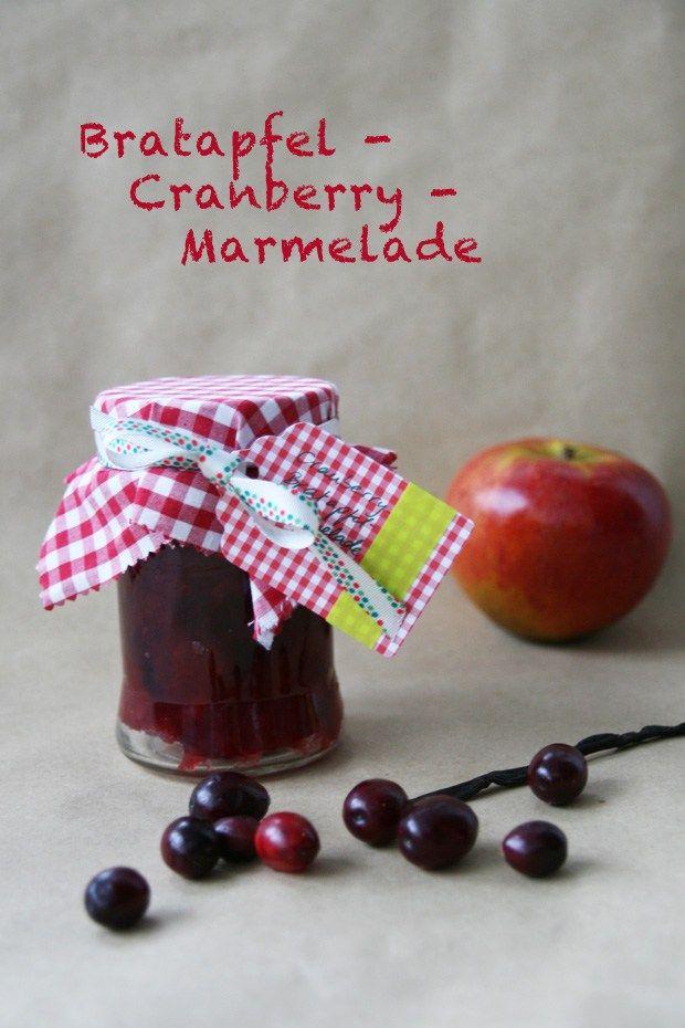 Bratapfel Cranberry Marmelade Jam Apfel Post aus meiner Küche PAMK