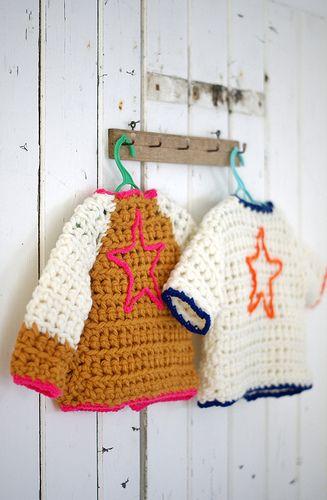 CrochetBaby Cardigans, Wool Wear, Chunky Sweaters, Kids Fashion, Wool Stools, Crochet Sweaters, Kids Clothing, Crochet Stars, Knits