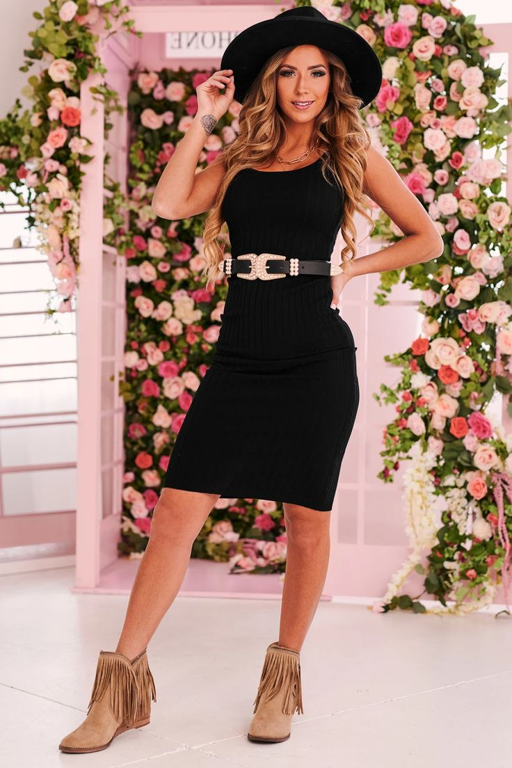 Enticed by you ribbed tank dress black in 2021 ribbed