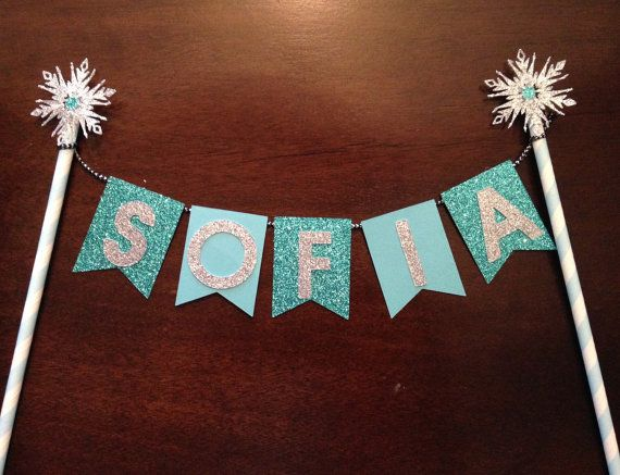 Frozen Bunting Banner / Cake Banner / Cupcake Topper