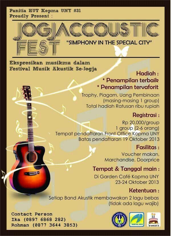 Jogjaccoustic Fest http://bit.ly/17QRwQq