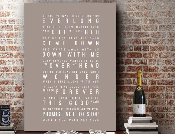 Foo Fighters Everlong Lyrics Love Song Wall Art Song Lyrics Home Decor Anniversary Wedding Gift Typography Lyric PRINT by VelvetPrint on Etsy https://www.etsy.com/listing/259506937/foo-fighters-everlong-lyrics-love-song