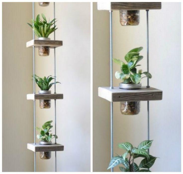 Monta estas estructuras verticales para tener plantas comestibles o florales.