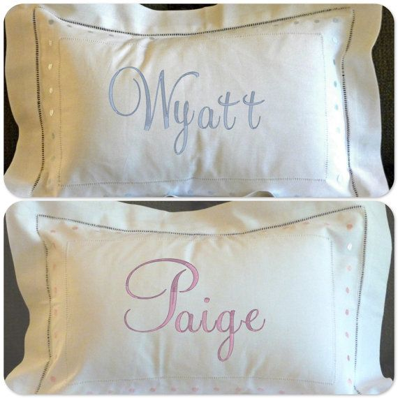 Baby Pillows Newborn Embroidery