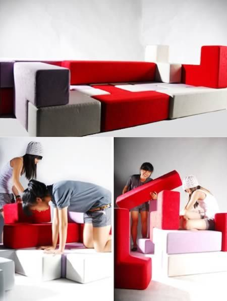 Any furniture collection that has been inspired by the iconic video game Tetris gets my nod of approval. TAT-Tris by Singapore-based industrial designer Gaen Koh is a modular seating design concept for children and aims at stimulating their grey cells and also develop their creative skills.