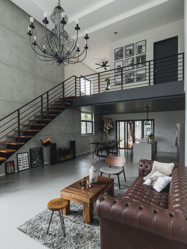 12 Inspirasi Desain Untuk Loft Dengan Atap Tinggi Desain Rumah Rumah Nyaman Ide Apartemen