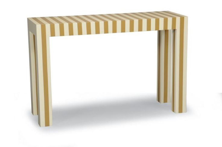 "Sleek, simple and sophisticated, our 1 1/2"" awning striped console makes a statement."
