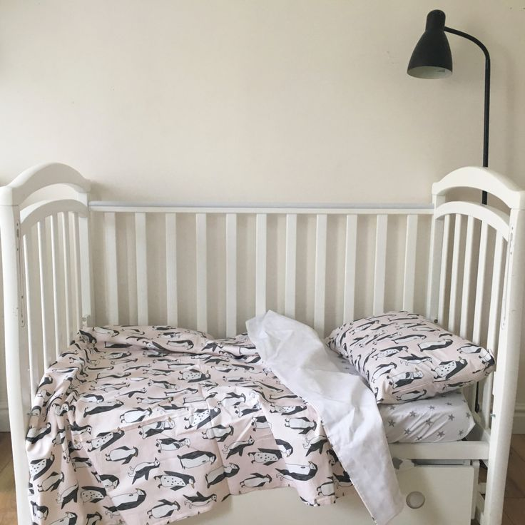Baby Bedding - Nursery Bedding - Penguines Dots Bedding - Baby Bedding Crib - Unique Bed Clothing - Handmade Bedding Set - Black And White by KarambaKids on Etsy