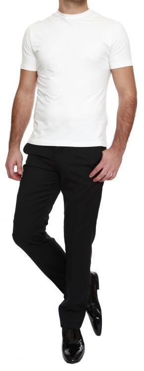 Темно-синие кашемировые брюки