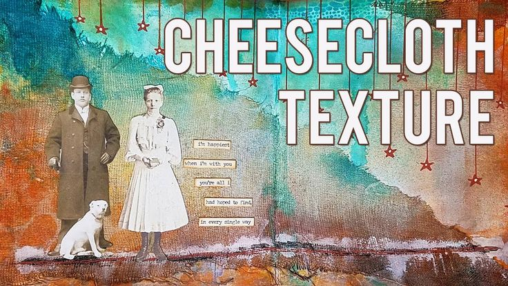 Art Journal Texture with Cheesecloth + Lindy's Stamp Gang Sprays! - Mixe...