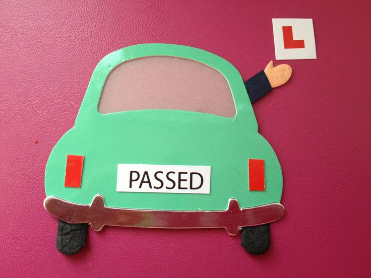 5 DIECUT GLOSSY CARD  PASSED  DRIVING TEST CARS CARD MAKING EMBELLISHMENTS
