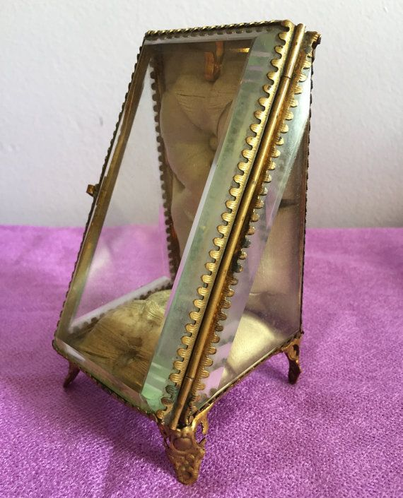 Antique French gilded ormolu & beveled glass by VintageDeParis