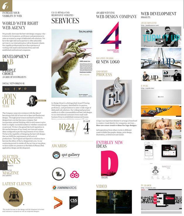 61designstreet   web design company