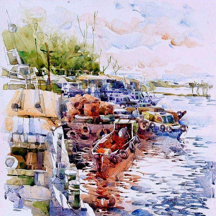 Радужные акварели Jack Tia Kee Woon | Заметки Сакумы