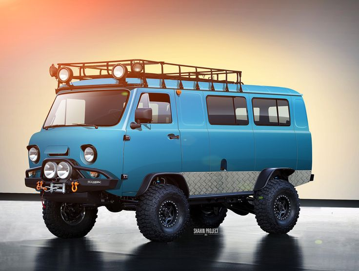 yellow-park-bench: Vector Painting… I can't even… those wheels… UAZ by tuninger