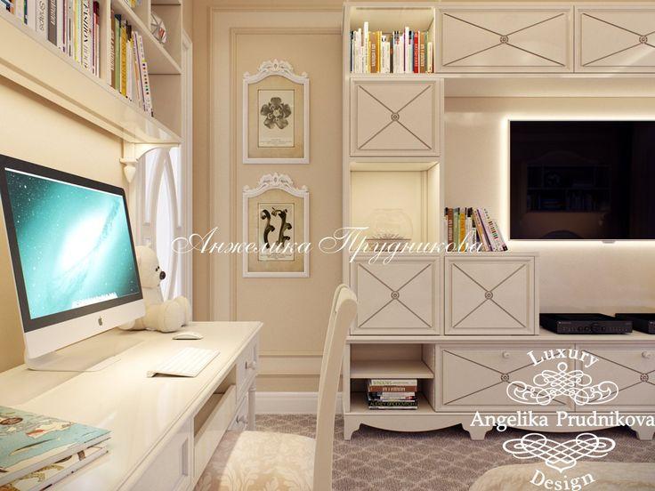 Дизайн проект интерьера детской комнаты в стиле Прованс в Звонарском переулке - фото
