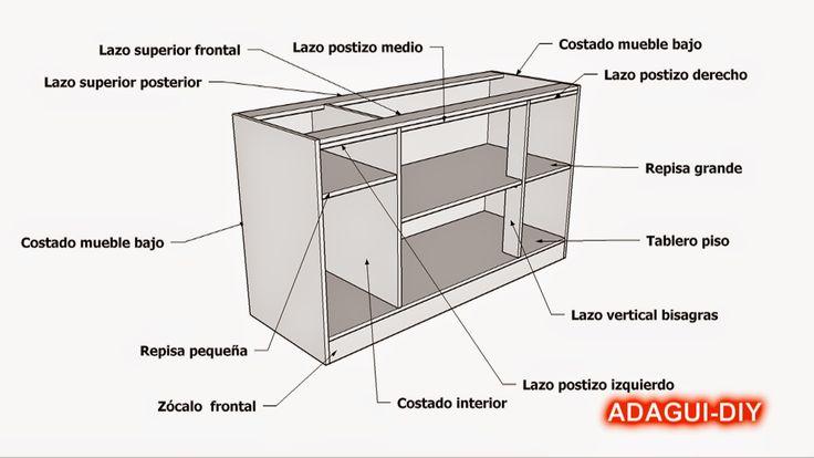44 best images about muebles de cocina melamina madera mdf for Donde aprender hacer muebles melamina