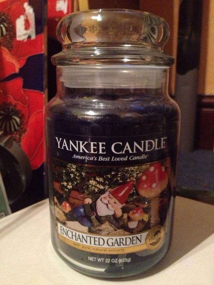 yankee candle enchanted garden large jar rare Candles