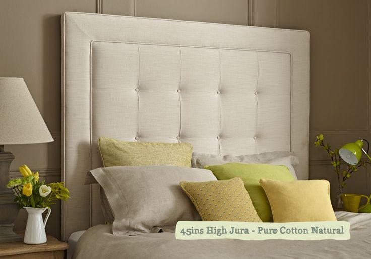 Kingsize Jura Headboard covered in Crushed Velvet Chrome