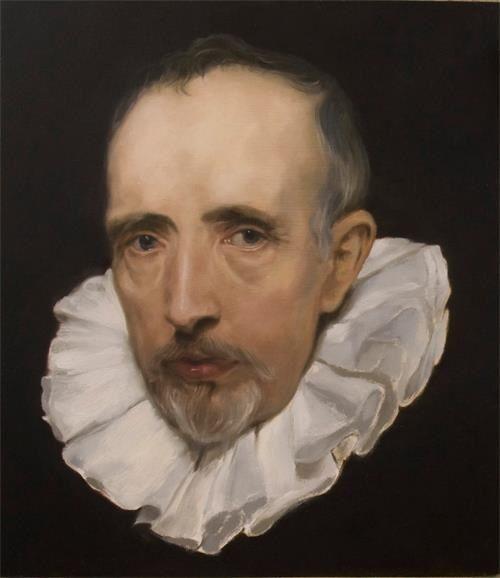 Cornelis Van Der Geest (after Van Dyck) oil on wood panel